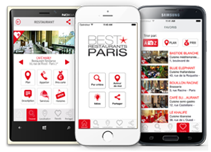Best restaurants Paris Applications Mobiles